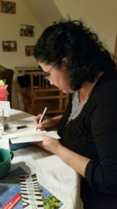 Am Ende der Lesung durfte ich fleißig signieren. Foto: Melanie Kümmel